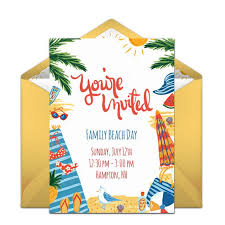 Design Party Invitations Online Free Best 25 Beach Party Invitations ...
