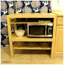 Simple Wooden Microwave Stand Ikea With Racks