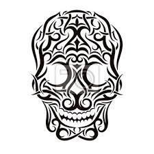 Fototapeta Tetování Tribal Lebka Vector Design Element