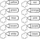 Раскраска английский для малы