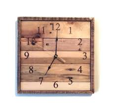 rustic wall clocks il 570xn913048061 tgpg clock square pallet wood anniversary 20 laser engraved large industrial