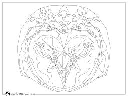 Coloring Page Common Barn Owl Noelle M Brooks