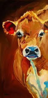 k cow painting k cow fine art print