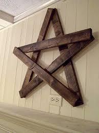wood pallet wall decor ideas. diy wood pallet star for wall decor ideas