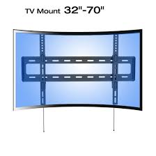 samsung flat screen tv on wall. loctek r1 panel tv wall mount bracket for 32-70 lcd\u0026led samsung curved uhd hdtv flat screen tv on d
