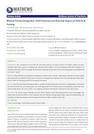 Grade Designation Pdf Medical Trainee Designation Staff Confusion And