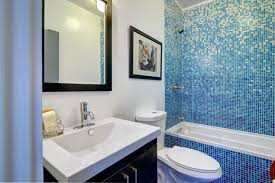 bathroom tile los angeles. Bathroom With Vibrant Blue Tile Modern-bathroom Los Angeles U