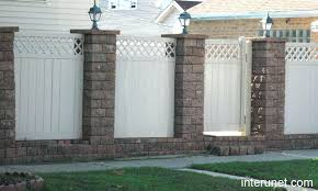 vinyl fence designs. Concrete Fences Design Vinyl Fence Pictures Brick Previous Designs Next Modern Philippines P