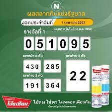 ตรวจผลสลากกินแบ่งรัฐบาล งวดประจำวันที่ 1 เมษายน 2563 (ออกรางวัลวันที่ 16