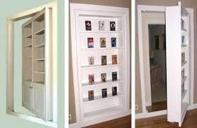 You can convert that under utilized space as a rotating/hidden bookshelf!
