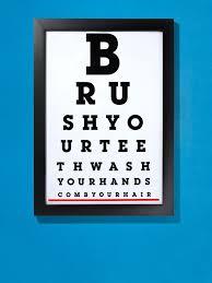 How To Make An Eye Chart Poster Downloadable Diy Bathroom Eye Chart Hgtv