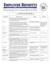 employee benefits package template employee benefits package template texas vet
