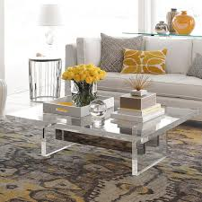 Love this chunky acrylic coffee table!