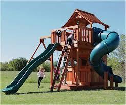 fort stockton swing set twister slide