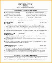 Sample Resume For Flight Instructor New Sample Pilot Resumes Mini ...