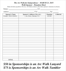 Sheets For Fundraising Pledge Sheets For Fundraising Template Or