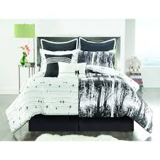 vcny home woodland 8 piece black and white nature inspired reversible bedding comforter set euro shams included com