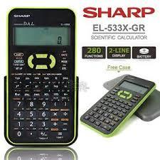 sharp calculator. image is loading sharp-el-533x-green-scientific-statistic-calculator-280- sharp calculator c