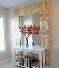 wood ruler mirror