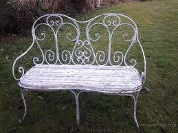 french cast iron garden bench seat