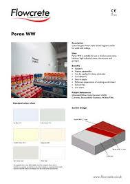 Flowcrete Color Chart Peran Ww Flowcrete Uk Pdf Catalogs Documentation