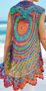 Boho Patterns Simple Crochet Vest PATTERN Boho Vest Pattern Crochet Beach Boho Cardigan