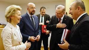 EU-Spitzen von der Leyen und Michel treffen türkischen Präsidenten Erdogan  in Ankara