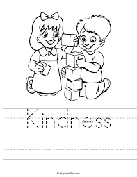 Acts Of Kindness Coloring Pages At Getcoloringscom Free Printable