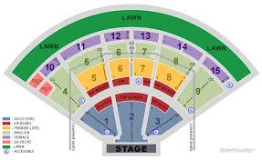 Concord Pavilion Seating Chart With Rows Sleep Train Amphitheater Online Charts Collection