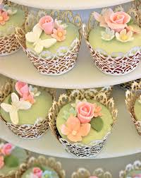 11 Wedding Cupcakes With Flowers Photo Pink Flower Wedding