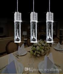 2015 new fashion led lamp crystal pendant lights tower modern lamps simple for dining room bar stairway home light fixtures modern hanging lights e65