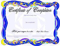 certificates of completion for kids award certificate templates