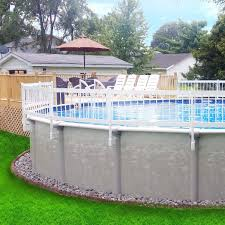 Tips for leveling your intex above ground swimming pool area with sand. Ecoopts 24 X 60 Vinyl Ground Pool Fence Panel Screen Level Top Guard Above Swimming Pool Safety Fencing Products White 3 Pieces Section B Amazon Ca Patio Lawn Garden