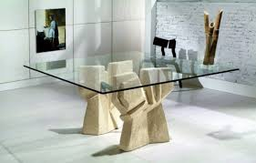 glass dining table base ideas