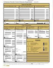 Uc Davis Ge Chart Ge Worksheet For Cbs Student Name Preliminary Tentative