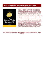 Ios Design Patterns Book Download Book Pro Objective C Design Patterns For Ios Full