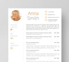 Creative Resume Template Cv With Photo Modern And