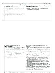 Weekly Lesson Plan Template Word High School Sample Format ...