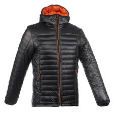 quechua x light men s hiking down jacket black