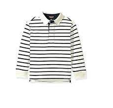 black and white striped rugby jersey scout boys long sleeve striped rugby shirt ivory navy 5