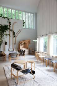 The studio of Finnish architect and designer Alvar Aalto; you can buy his  furniture at