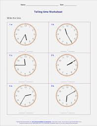 Learning to Tell Time Worksheets Clocks to Tell Time – Dailypoll