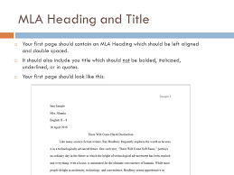 mla format for heading co mla format for heading