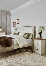 create a calm and relaxing bedroom interior with our aurora bedroom furniture range this charming country style collection is made from reclaimed wood with bedroom set light wood vera