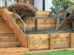 timber retaining wall construction landscape timbers retaining wall photo of landscape timber retaining wall ideas landscape