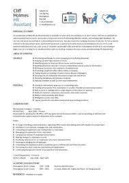 hr assistant cv template  job description  sample  candidates    hr assistant cv