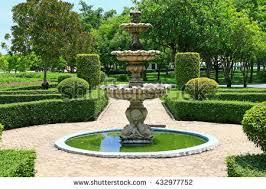 fountain garden. Peaceful Ideas Fountain Garden Stock Images Royalty Free Vectors O