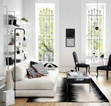 view in gallery modern black and white rug from cb2
