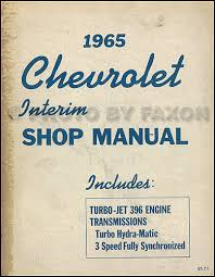 chevy wiring diagram reprint impala ss bel air biscayne caprice 1965 chevrolet 396 engine turbo h m repair shop manual original