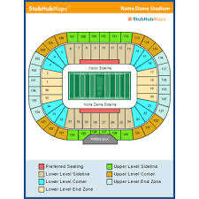 4 Notre Dame Vs Ball State Football Tickets Sec 13